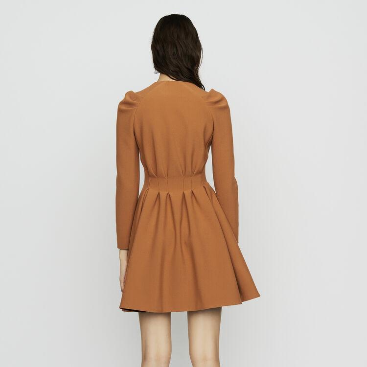 Vestito pattinatrice con dettagli : Vestiti colore Cammello