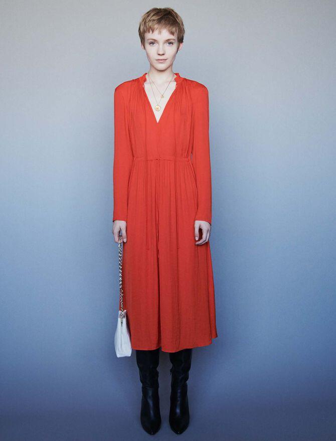 Dress with drawstring waist - Midseason-Sales_UK_30% - MAJE