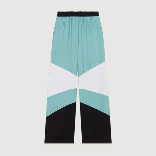 Pantalone largo multicolore : Nuova Collezione colore Multicolore