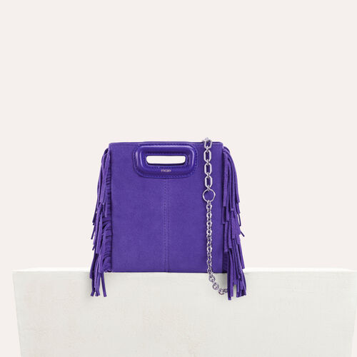 Mini-borsa M in suede con catena : M Mini colore Violetto