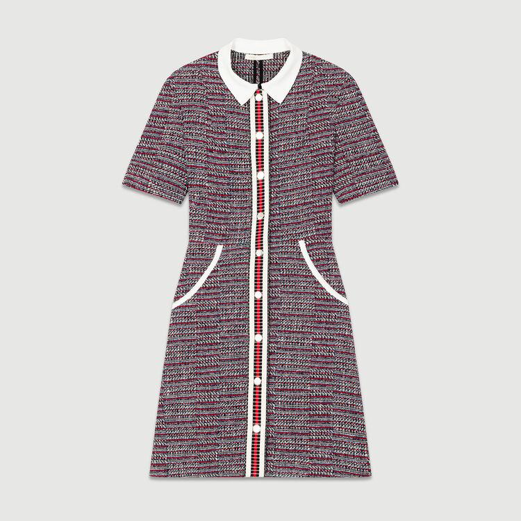 Vestito in tweed : Vestiti colore Jacquard