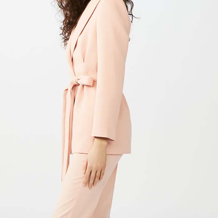 Giacca tailleur lunga con pinces : Giacche colore Rosa