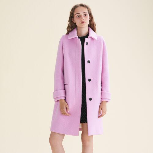 Cappotto dritto in lana vergine : Cappotti colore Rosa