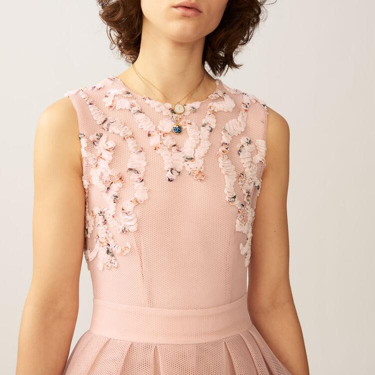 Vestito senza maniche in maglia : Vestiti colore Rosa