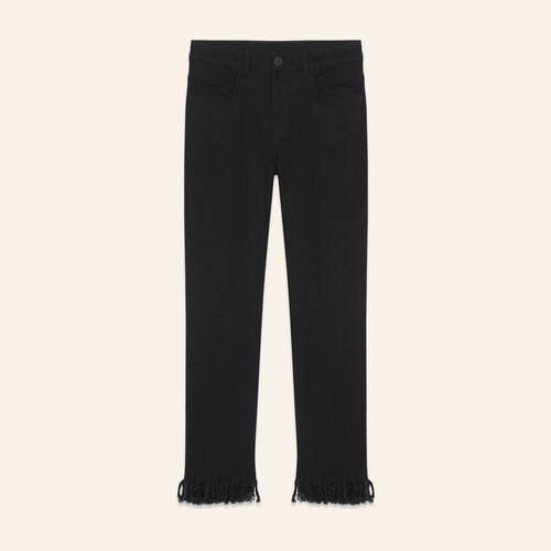 Jeans dritti a frange - Jeans - MAJE