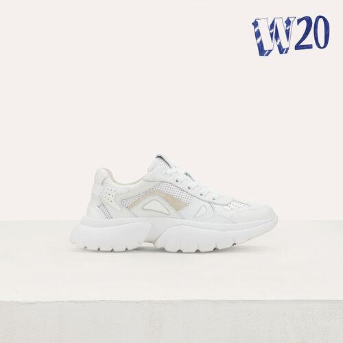 Sneakers di cita W20 di pelle : Vedi tutto colore Bianco