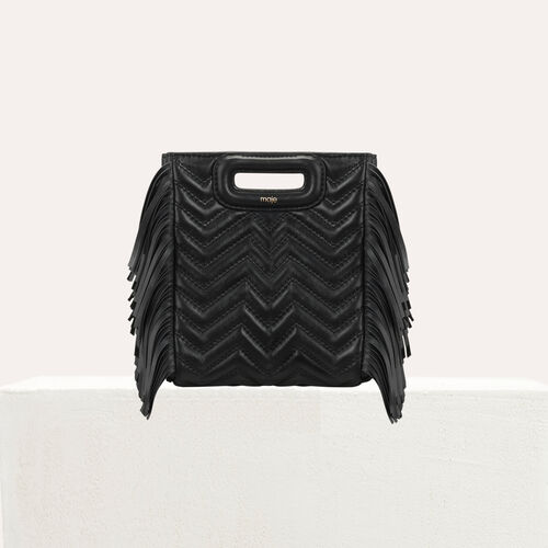 Mini-borsa M in pelle matellassè : M Mini colore Nero