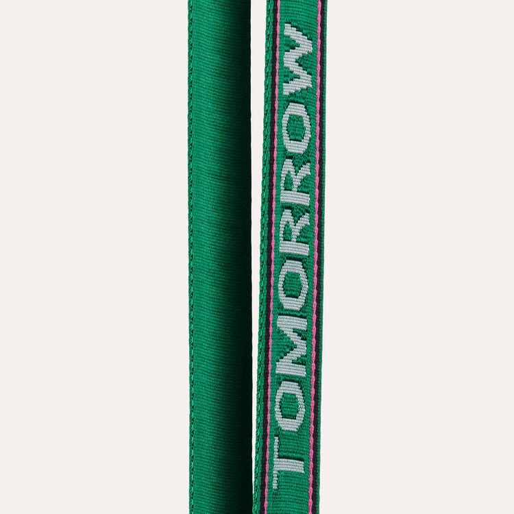 Tracolla rimovibile con scritta : Tracolle colore Verde