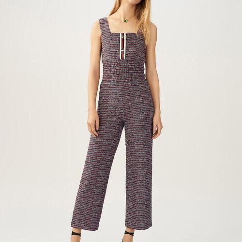 Tuta in tweed : Pantaloni colore Jacquard