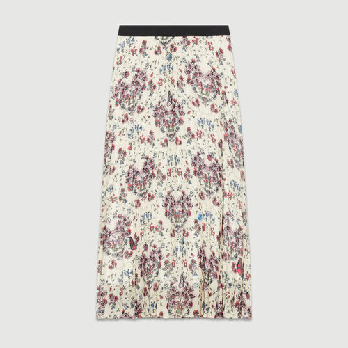 Gonna lunga plissettata con stampe : Gonne e shorts colore IMPRIME
