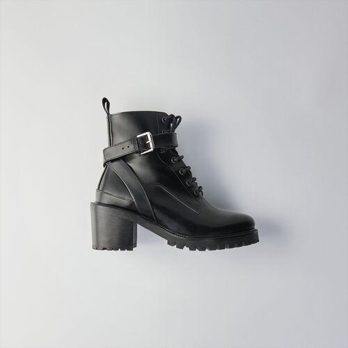Stivaletti allacciati con tacco : Stivali e Stivaletti colore Nero