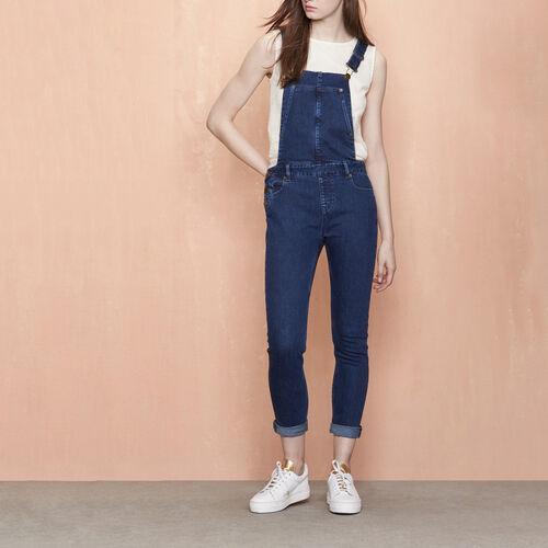 Salopette taglio slim in denim : Pantaloni & jeans colore Denim
