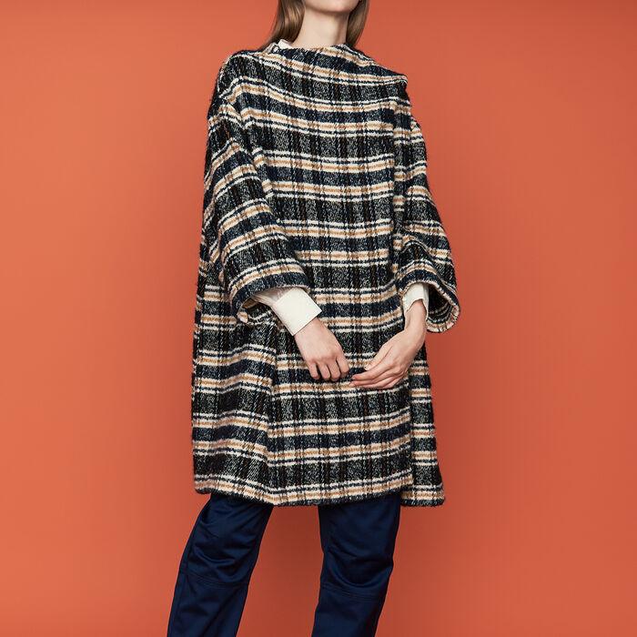 Cappotto stile poncho in tartan : Cappotti colore CARREAUX