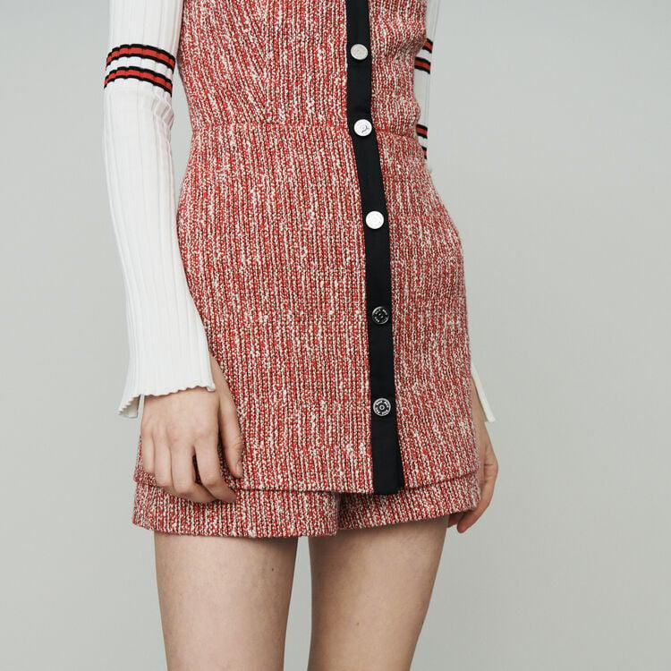 Vestito trompe-l'œil stile tweed : Vestiti colore Rosso
