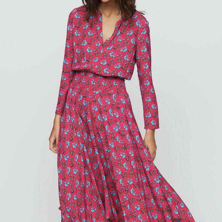 Vestito lungo stampato : Vestiti colore IMPRIME