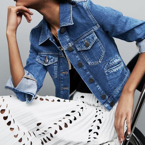 Giacca di jeans corta : Le denim colore Blu