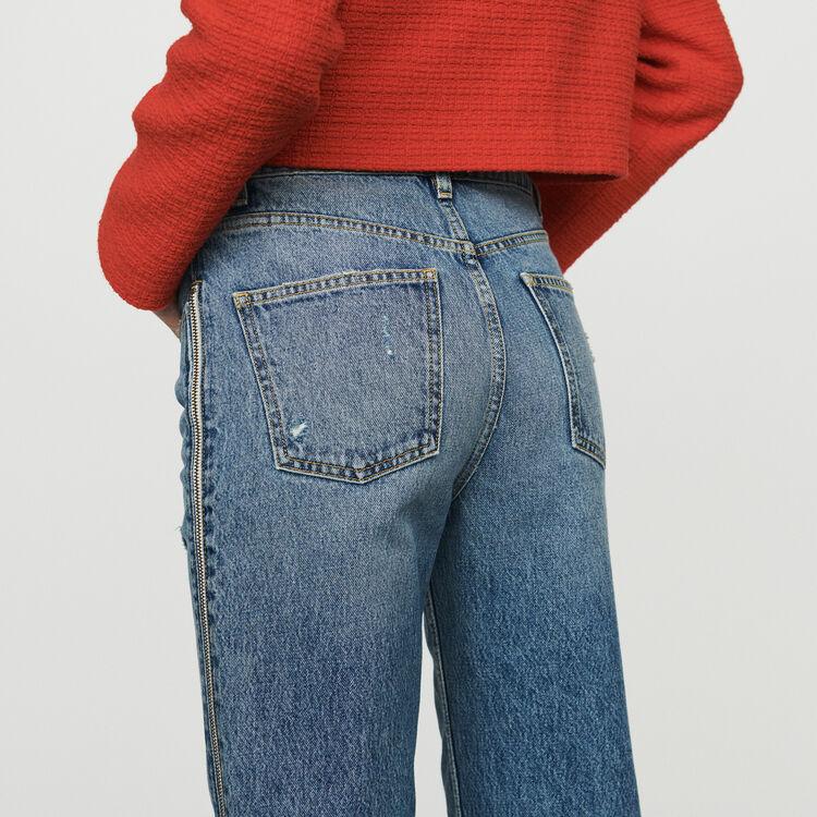 Jeans dritti con zip : Jeans colore Denim