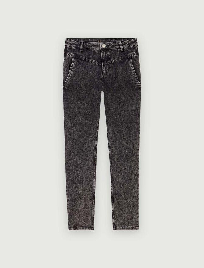 Jeans dritti con tasche e intagli - Pantaloni e Jeans - MAJE
