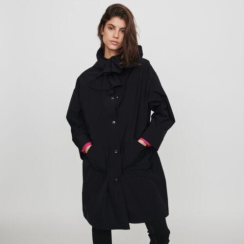 Parka stile giacca a vento con cappuccio : Collezione Inverno colore Nero