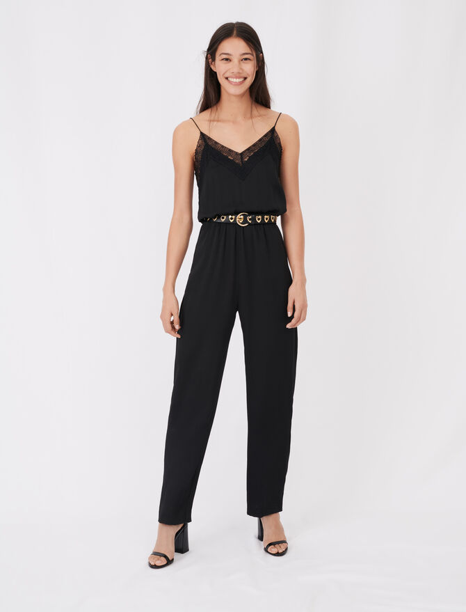 Tuta pantalone in satin - Jumpsuits - MAJE