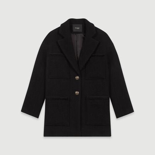 Cappotto stile tweed : Cappotti e Giubbotti colore Nero