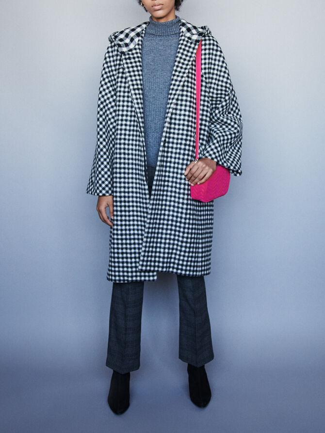 Cappotto in lana a quadri -  - MAJE