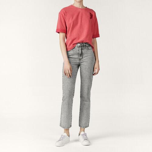 Jeans dritto délavé : Pantaloni & jeans colore Grigio
