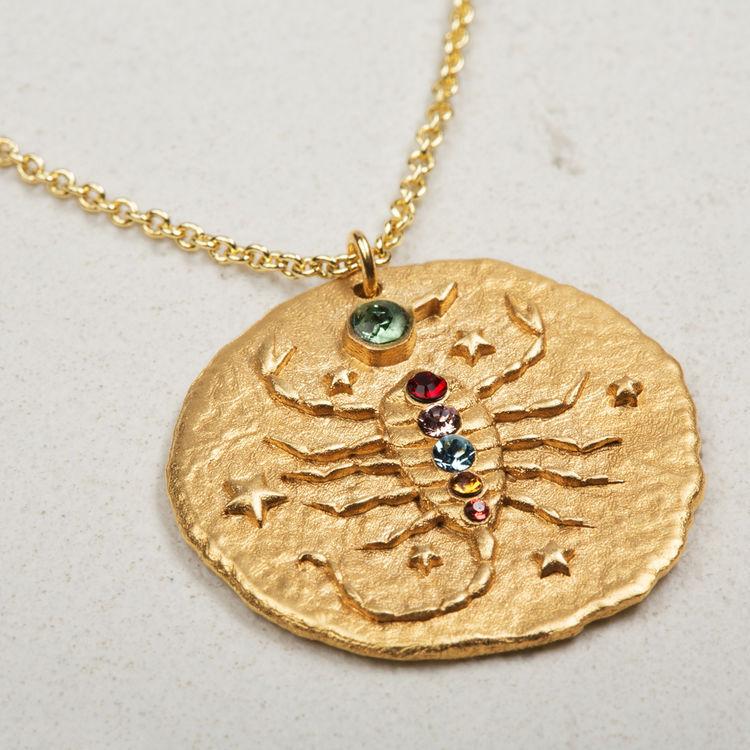 Collana segno zodiacale Scorpione : Vedi tutto colore OR