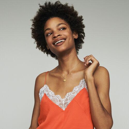 Casacchina con pizzo : Tops e Camicie colore Arancio