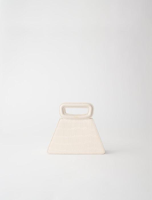 Mini borsa a piramide in pelle goffrata : -30% colore Nero