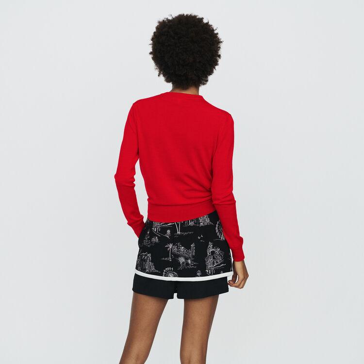 Cardigan annodato : Maglieria colore Rosso