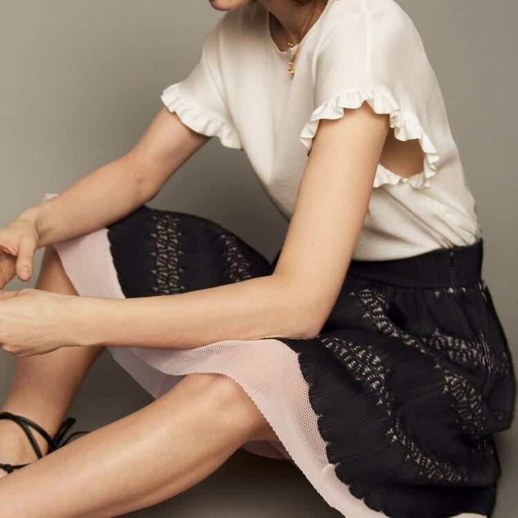 Gonna longuette in tessuto tecnico : Gonne e shorts colore Nero