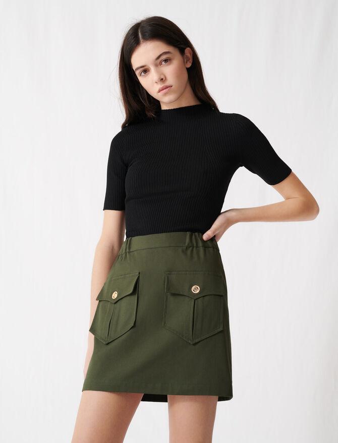 Gonna kaki in cotone con tasche - Gonne e shorts - MAJE