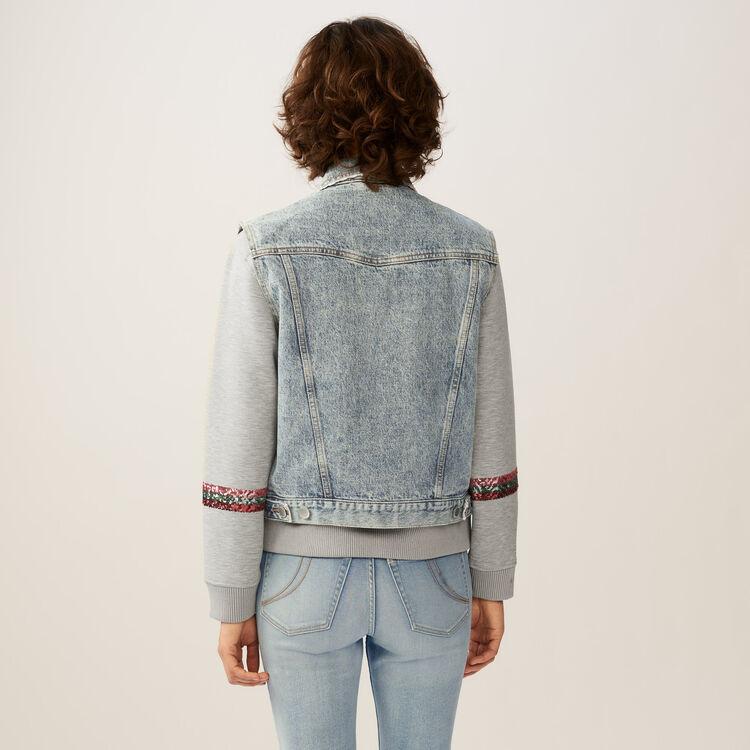 Giacca di jeans senza maniche : Giubbotti colore Blu
