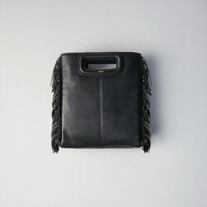 Leather M bag : Borse M colore Nero
