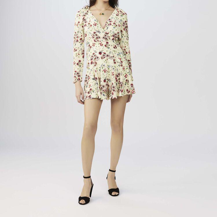 Tuta corta stampata in seta : Gonne e shorts colore IMPRIME