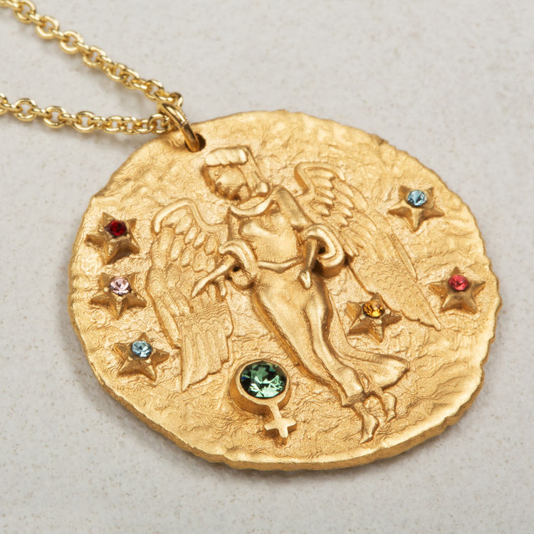 Collana segno zodiacale Vergine : Gioelli colore OR