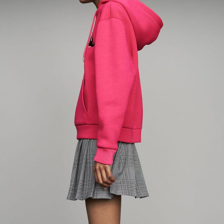 Felpa oversize con cappuccio : Sweatshirts colore Fucsia