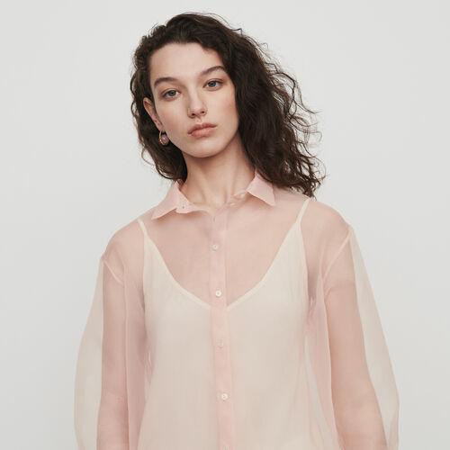 Camicia stile organza : Tops e Camicie colore Mandarino