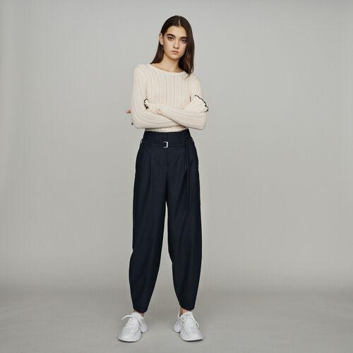 Pantaloni stile odalisca : Pantaloni e Jeans colore Blu Marino
