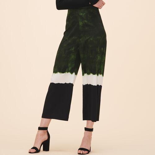 Pantaloni larghi con stampa Tie and Dye : Pantaloni & jeans colore Stampato