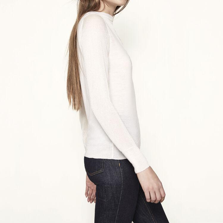 Pullover in maglia e fili lurex : -70% colore Ecru