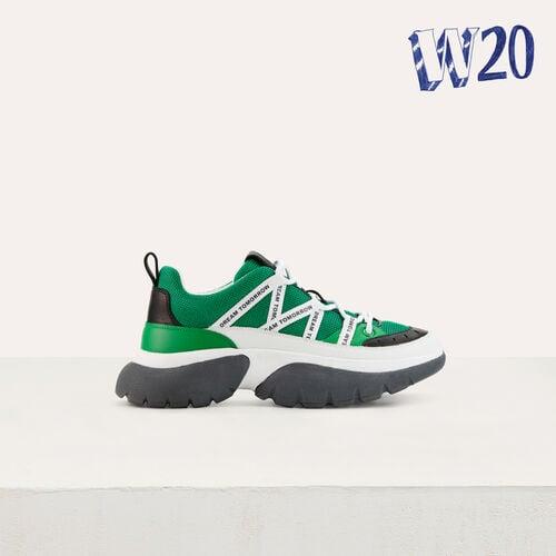 Sneakers di cita W20 di nylon : Urban colore Verde