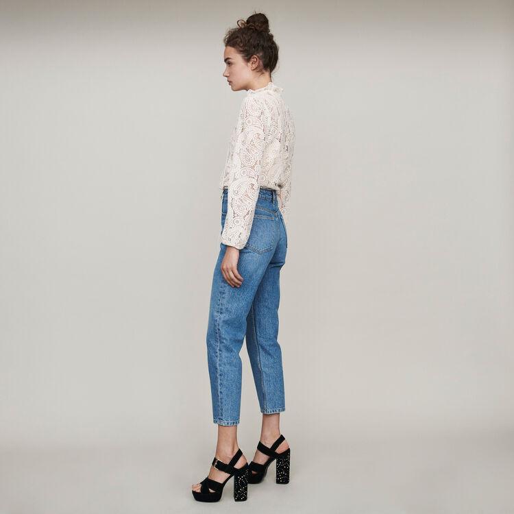 Jeans a vita alta : Pantaloni e Jeans colore Blu
