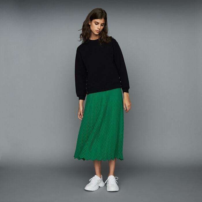 Gonna lunga plissettata a spina : Gonne e shorts colore VERT