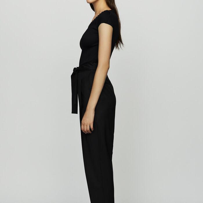 Pantaloni con pinces in lana vergine : Nuova Collezione colore Nero