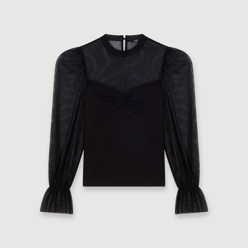 Tee-shirt trompe-l'œil : Tops e Camicie colore Nero