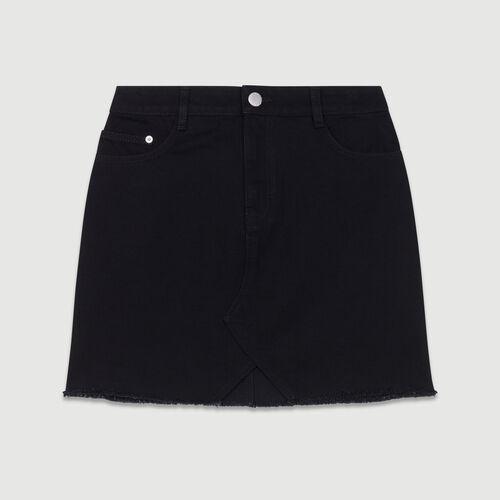 Gonna di jeans corta : Gonne e shorts colore Nero