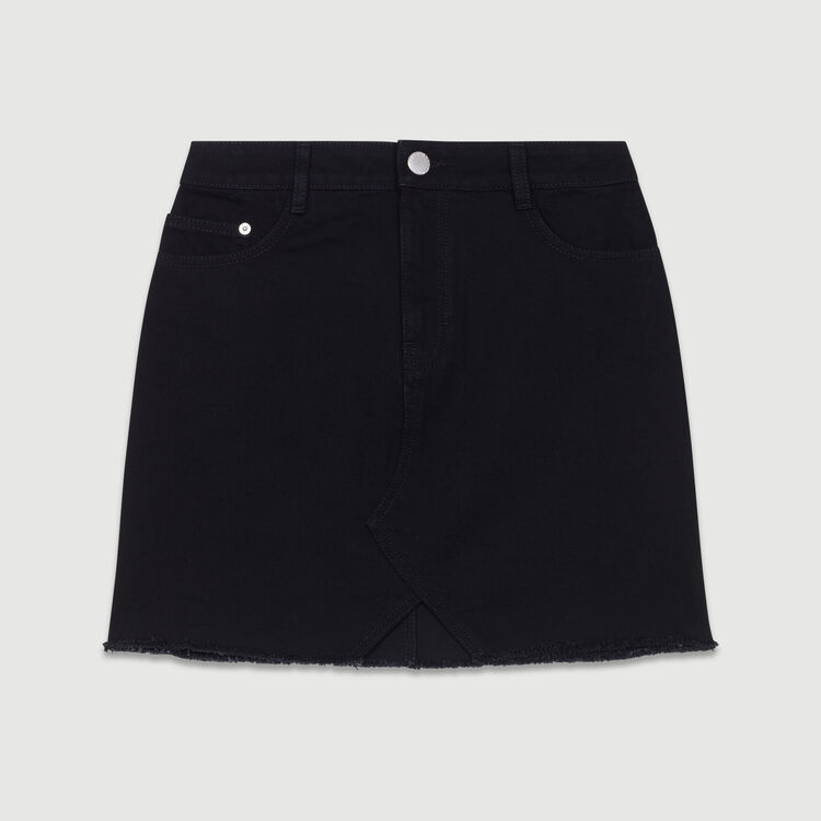 Gonna di jeans corta : Gonne e shorts colore Nero