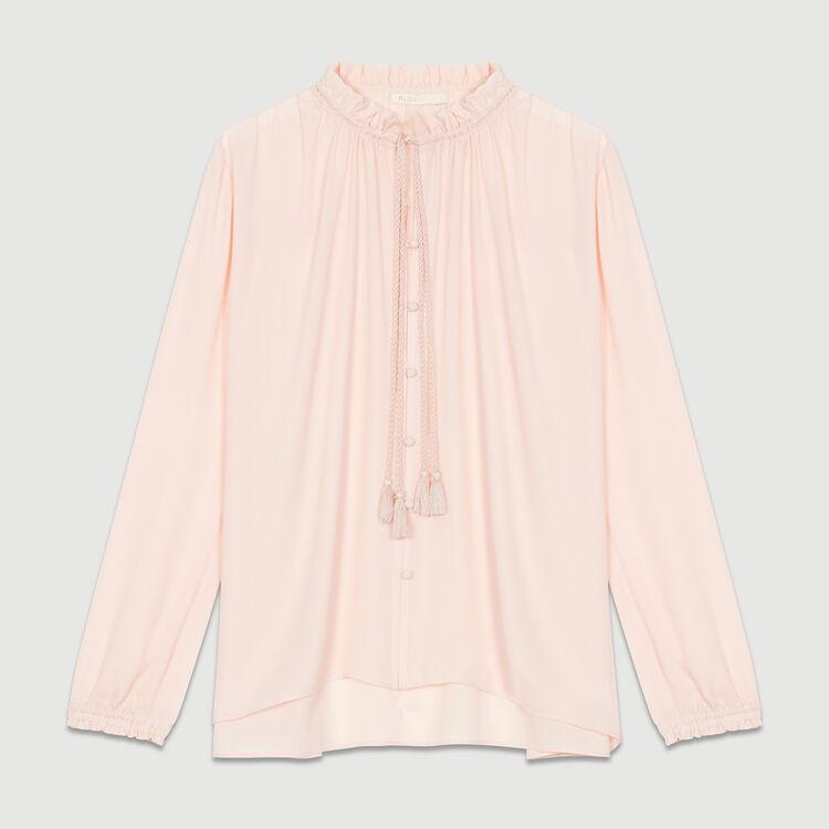 Camicetta fluida con cordone : Camicie colore Rosa